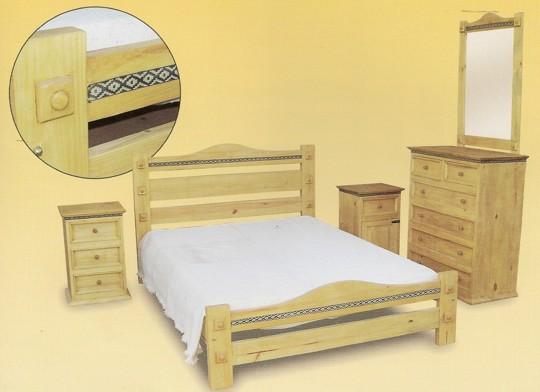 Dorable Muebles De Dormitorio De Pino Encerado Bosquejo - Muebles ...